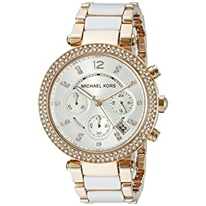 Michael Kors Women's Parker White Watch MK5774