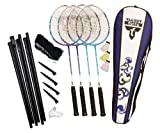 Talbot Torro Badminton Set 4-ATTACKER SET Modell 2010, marineblau-cyan