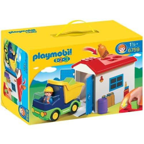 Playmobil-1-2-3-6759-Truck-with-Garage