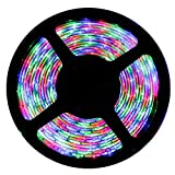 Non WaterProof SMD 3528 LED STRIP Lights (5 Meter) + DC 12V Adapter + LED Dimmer / Controller (MULTICOLOUR (RGB))