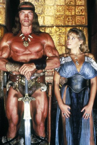 Arnold Schwarzenegger and his Big Tits