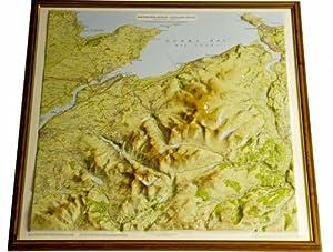 raised relief map British Isles