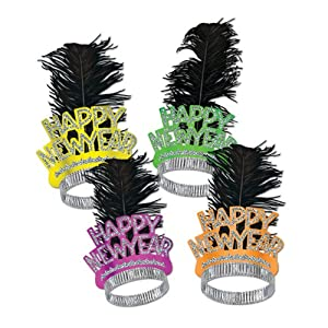 Beistle 50-Pack Decorative Neon Swing Tiaras for Parties