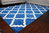 Generations Contemporary Pattern Modern Area Rug, 5' x 7'2', Navy...