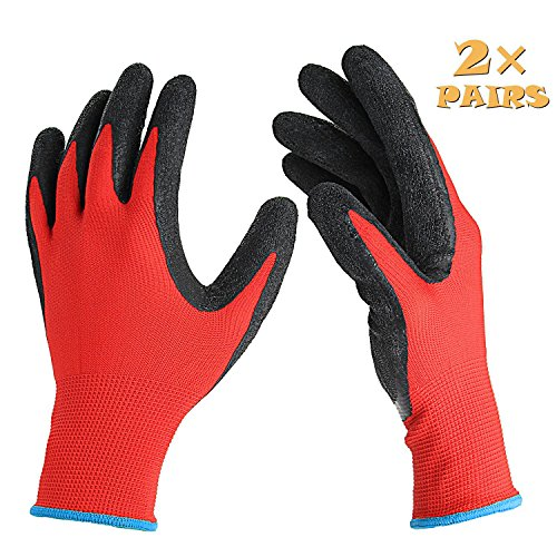 Garden Gloves, Danibos 2 Pair Pack Comfort, Flex Coated ...