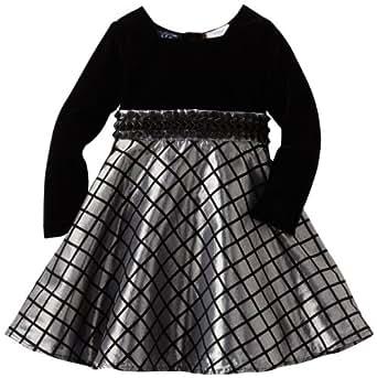 So La Vita Baby Girls' Sequined Bodice Tiered Dress, Black, 18 Months