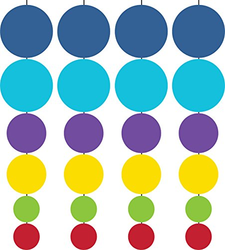 Creative Converting 4 Count Birthday Pop! Hanging Garland, Multicolor
