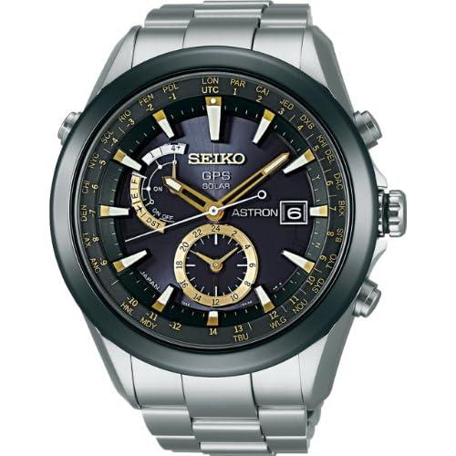 [セイコー]SEIKO 腕時計 SEIKO ASTRON アストロン ソーラー GPS 衛星電波修正 ブライトチタン 黒×ゴールドダイヤル サファイアガラス スーパークリアコーティング 日常生活用強化防水 (10気圧防水) SBXA005 メンズ
