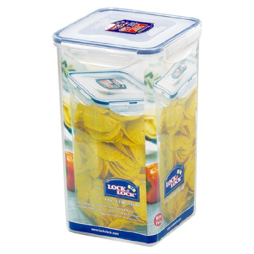 Lock&Lock 135-Fluid Ounce Square Food Container, Tall, 16.6-Cup