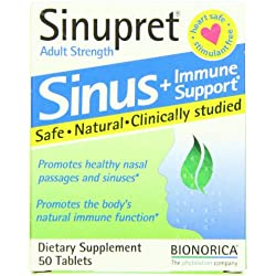 Bionorica Sinupret Herbal Supplement, 50 Count