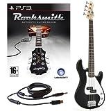 Rocksmith (PS3) 3/4-elektrische G-4-Bassgitarre in schwarz