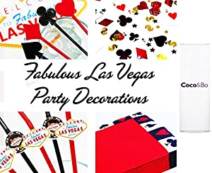 26 x Coco&Bo - Las Vegas Fabulous Cupcake Cases - Black & Red - Casino Poker Night Card Party / James Bond Theme