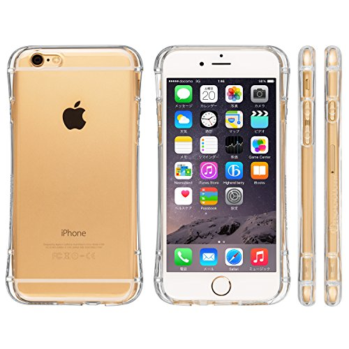Highend berry amazon限定 iPhone 6 4.7インチ 落下防止 用 ストラップ ホール 保護キャップ 一体型 ソフト TPU ケース Arc クリア
