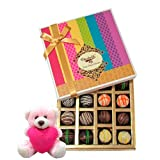 Valentine Chocholik Premium Gifts - Chocholik Chocolatier Ultimate Dessert Truffles Treat With Teddy