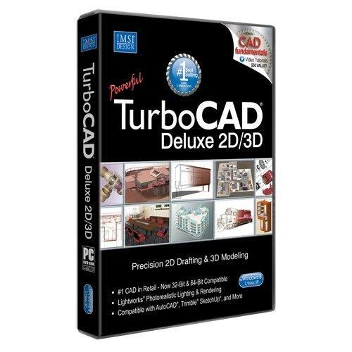 TurboCAD Deluxe 20 2D & 3D CAD Design software