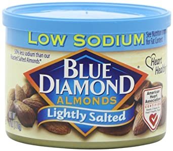 Blue Diamond Almonds Lightly Salted, 6-Ounce Containers (Pack of 6)
