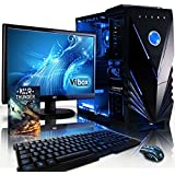 """VIBOX Standard Package 3 - 3.8GHz, Family, Desktop Gaming PC, Computer with WarThunder Game Bundle, 22"""" Monitor, LED Gamer Keyboard & Mouse PLUS a Lifetime Warranty Included* (New 3.1GHz (3.8GHz Turbo) AMD, A8 Quad-Core Processor, AMD Radeon HD Graphics Card Chip, 1TB HDD Hard Drive, 8GB 1600MHz RAM, No Operating System Included)"""