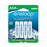 eneloop NEW 800 mAh Typical, 750 mAh Minimum, 1500 cycle, 4 pack AAA, Ni-MH Pre-Charged Rechargeable Batteries ~ Sanyo