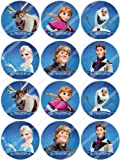 Cakeshop 12 x PRE-CUT Disney Frozen Edible Cake Toppers