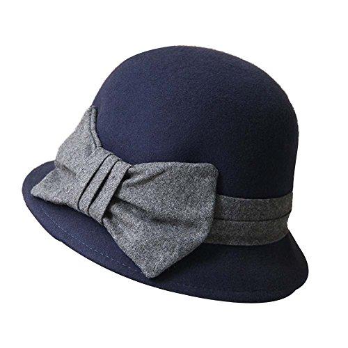 Chapeau-de-bowling-de-laine-de-Bowln-de-chapeau-de-feutre-de-laine-de-Billycock-de-laine