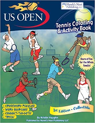 US Open Tennis Coloring and Activity Book