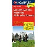 Dresden - Meißen - Westliche Sächsische Schweiz: Fahrradkarte. GPS-genau. 1:70000 (KOMPASS-Fahrradkarten Deutschland)