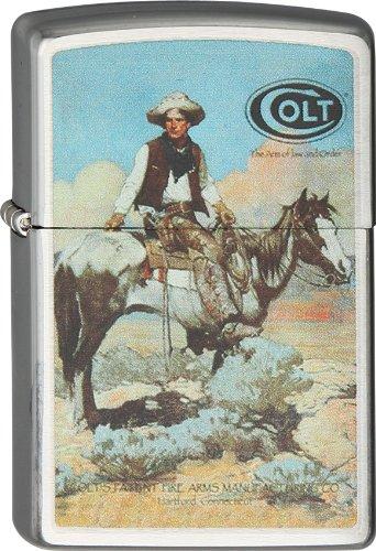American Cowboy Colt Frontier Revolver Peacemaker Six Shooter Zippo Lighter