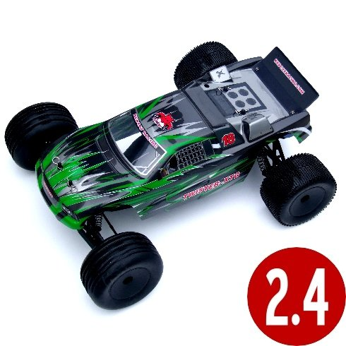 Redcat Racing TWISTER-XTG-GREEN Twister XTG .1 Scale Electric 2-Wheel Drive Stadium Truck