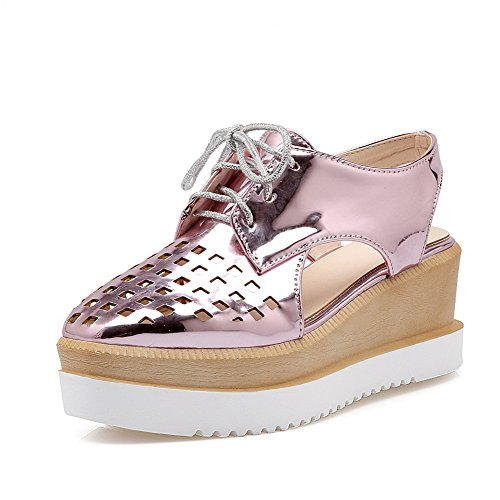allhqfashion-womens-kitten-heels-patent-leather-solid-lace-up-square-closed-toe-sandals-pink-37