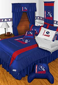 NFL New York Giants Comforter Set 3 Pc Queen Full Bedding