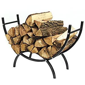Sunnydaze 3-Foot Curved Firewood Log Rack and