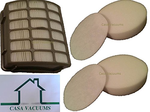Shark Navigator Professional 2 Foam Filter Kits and 1 HEPA Filter fits NV80, NV70, NVC80C, UV420, NV90 part # XFF80 & XHF80, by Casa Vacuums (Shark Filters Xff80 compare prices)