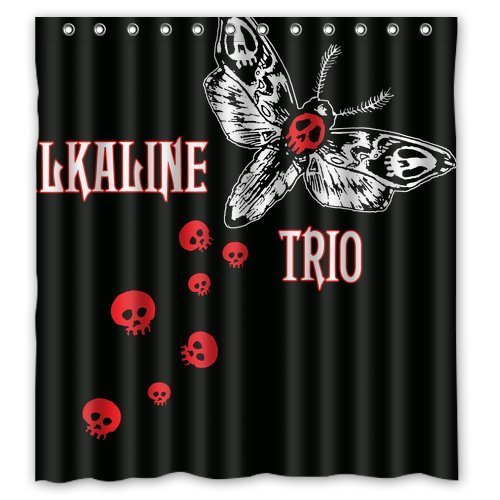 Alkaline Trio Logo Butterfly Custom Create Design Your Own Waterproof Shower Curtain Bathroom Curtains Bath Curtain 66x72 inches Bath Trio