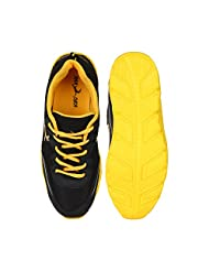 Randier Black Sports Shoes For Mens