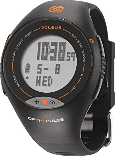 Soleus Pulse Orologio da Corsa con Activity Tracker Salute e Fitness e Cardiofrequenzimetro, Arancio
