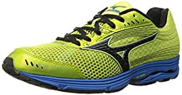 Mizuno Men\'s Wave Sayonara 3 Running Shoe, Bright Lime/Black, 11 D US