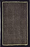 Home Dynamix 4469-450 Catalina Area Rug Scatter, 19.6 by 31.5-Inch, Black