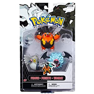 Pidove, Pignite, Woobat Mini-Figures: Pokemon B;W 3-Figure Pack Series
