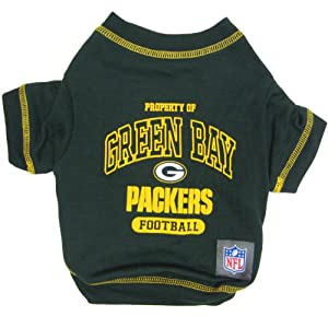 Pets First NFL Green Bay Packers T-Shirt, Large by Pets First