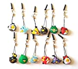 Dust Plug Phone Charm Set of Angry Birds - 12 pcs for cell phone iPhone iPad mobile device tablet