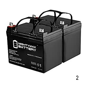 12V 35AH Wilderness Tarpon 100 Kayak Trolling Motor Battery - 2 Pack - Mighty Max Battery brand product