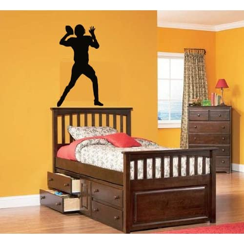 Kids Vinyl Wall Decal Football Player We Can Do Any Color Any Size