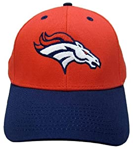 NFL Denver Broncos Basic Logo Velcro Closure Baseball Hat, Orange by Eclipse Specialties