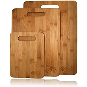 Bamboo Cutting Board Set - 3 Piece All In One Pack - Strong and Durable Hard Wood That Is... by Innovative Kitchen, Bathroom and Garden