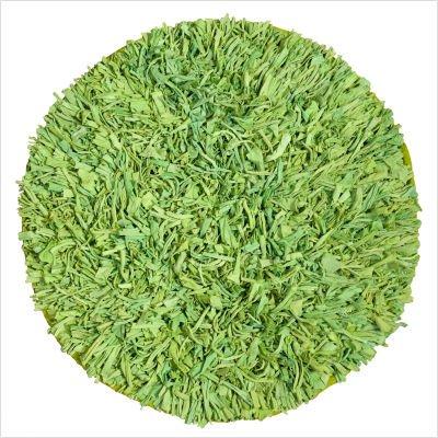 """Calypso Cotton Jersey Green Shag Round Rug Size: Round 4'9"""""""