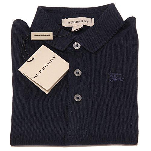 9490O polo BLU bimbo BURBERRY check cotone maglie t-shirt kids [12 MONTHS]