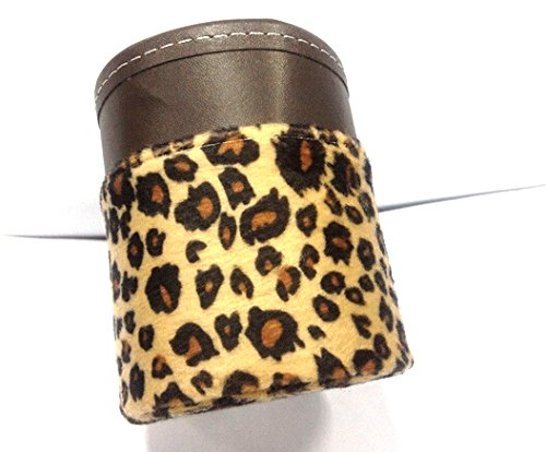 Plush Leopard Auto Car Air Outlet Drink Holder Or Mobile Phone Storage Bag front-729216