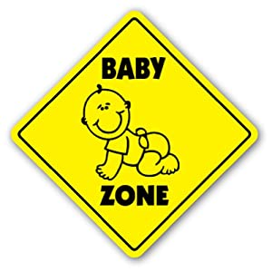 Amazon Com Baby Zone Sign Xing Gift Novelty Cry Diaper