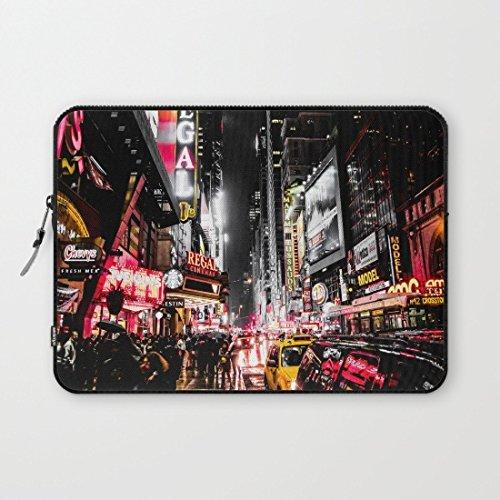 Eratio New York City Night Neoprene Protective Laptop Sleeve 13 Inch Macbook Air Case Macbook Pro Sleeve and 13 Inch Laptop Bag Cover (Mac Book Pro Case New York compare prices)