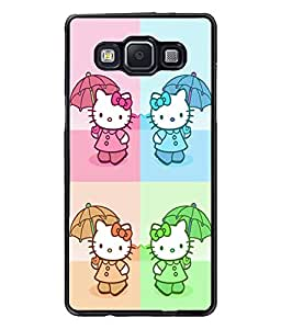Fuson Kitty Pattern Back Case Cover for SAMSUNG GALAXY A5 - D3985